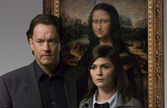 Tom Hanks en Audrey Tatou in de verfilming van 'de Da Vinci Code' door Ron Howard.