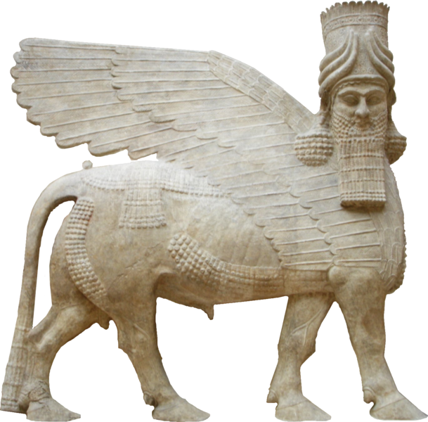 609px-Human_headed_winged_bull_facing