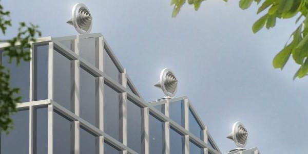 Een voorbeeld van hoe eenvoudig de Archimedes-windmolens kunnen worden geïnstalleerd in Midden- en Kleinbedrijf en op huishoudelijke schaal.