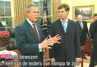 Een 'grote EU-leider' die kennelijk achter de manipulaties aanliep van een 'groot VS-leider'..??!