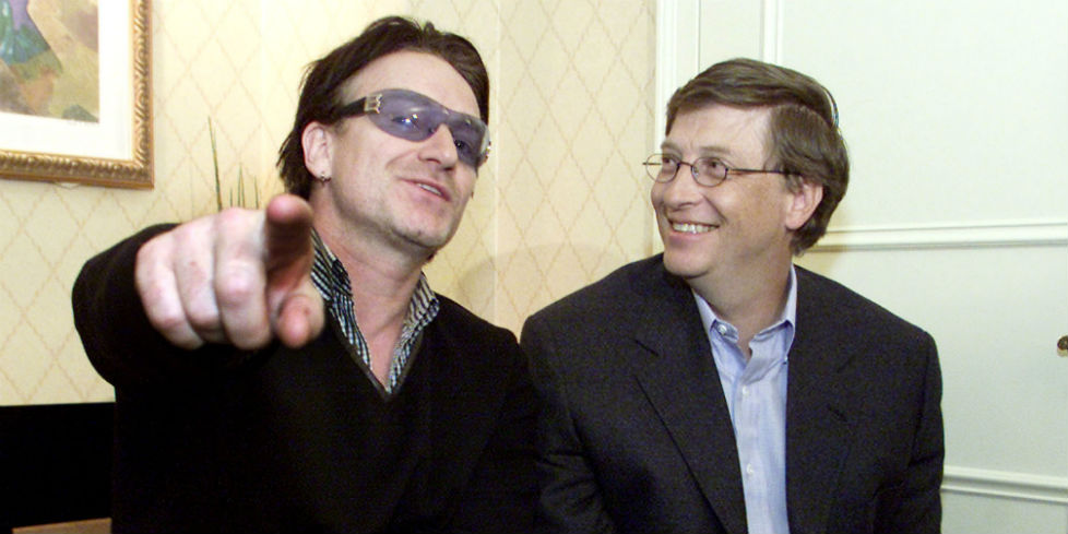 Bono met mr. Eugenica, Bill Gates