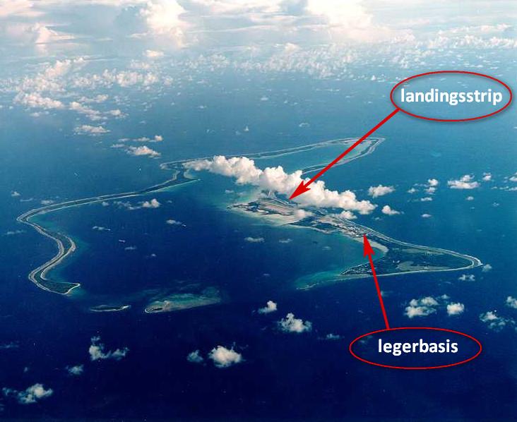 Diego Garcia luchtfoto