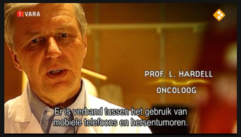 Een screenshot uit de documentaire van Zembla over de effecten van Elektro-magnetisch straling..