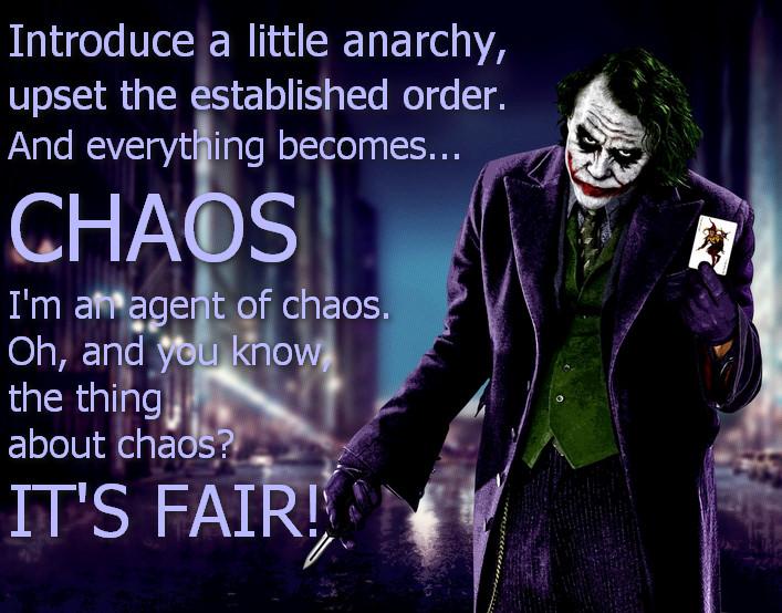 Joker chaoss quote