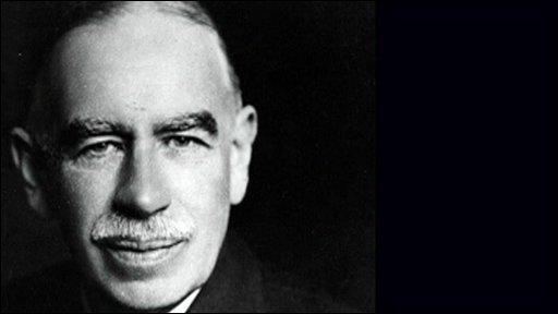 John Maynard Keynes, de tovernaar die heel wat leerlingen zou voortbrengen.