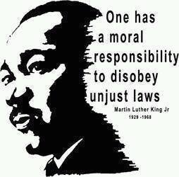 MLK disobey laws