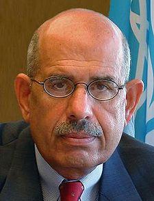 Mohamed ElBaradei: speelt 'de  hoofdrol' in deze nieuwe productie. Een hoofdrol voor niemand minder dan een Nobelprijswinnaar die toevallig ten tonele verschijnt om leiding te geven aan de oppositie tegen het oude regime.
