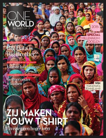 Dit 'One-World'-magazine laat zien hoe de rjiken steeds rijker worden, door het wegnemen van handelsbarrières, die feitelijk bedoelt zijn als bescherming van thuismarkten en -economieën.