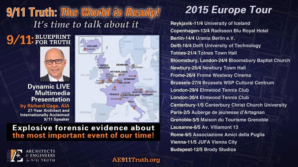AE911Truth European Tour 2015 Dates