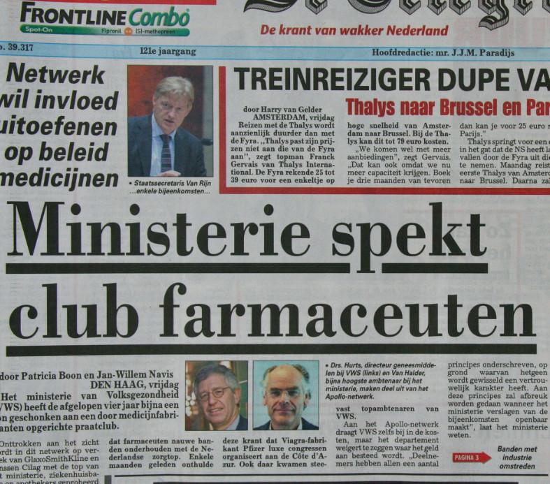 Telegraaf Ministerie VWS
