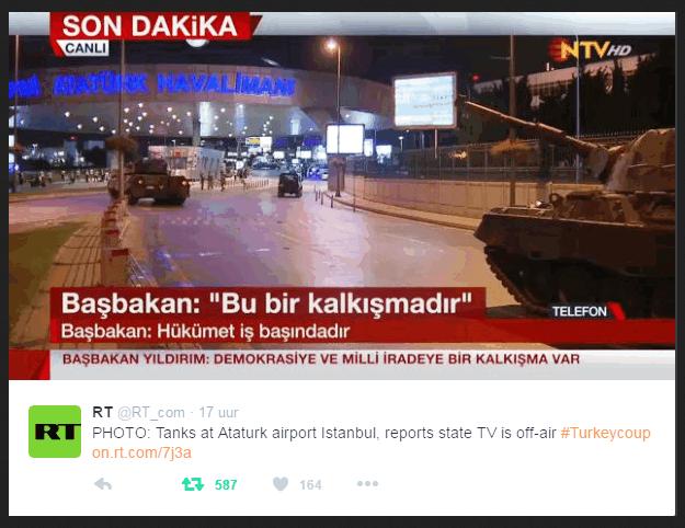 Turkije coup RT vliegveld