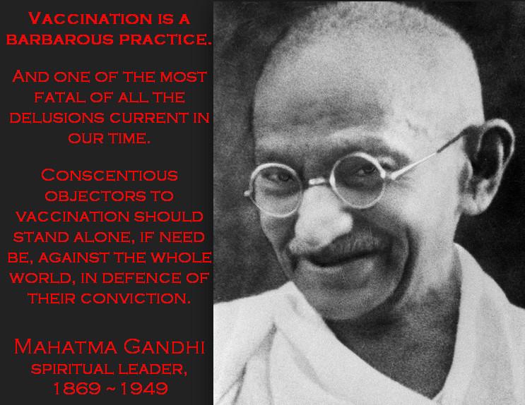 Vaccination claim Gandhi