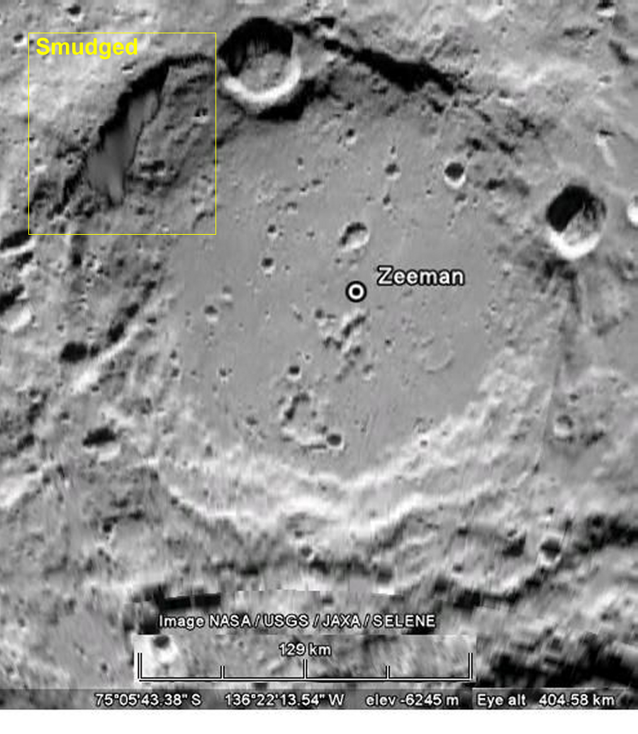 Zeeman Crater Google Moon