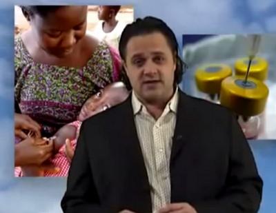Dr. ANdrew Moulden in zijn rol als publieksvoorlichter over vaccins, vaccinaties en vooral... vaccinatieschade!
