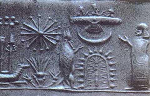 In met name de Soemerische kleitabletten zijn dit soort historische afbeeldingen van sigaarvormige vliegende schepen te zien! De Annunaki waren dus ook maar gewone 'goden'..