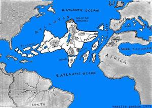 Volgens zowel Edgar Cayce als Plato, lag het continent van Atlantis op de plaats waar nu de Atlantische oceaan ligt.