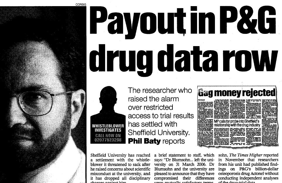 blumsohn proctor and gamble research fraud