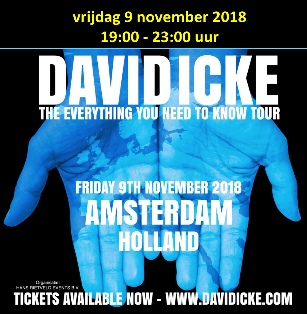 David Icke 9 november '18 RAI banner
