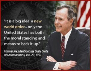 George H. W. Bush was één van de meest opvallende NWO-strijders.. Vergeefs, als wij onze macht bekrachtigen..!