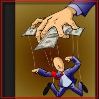 geld macht marionet
