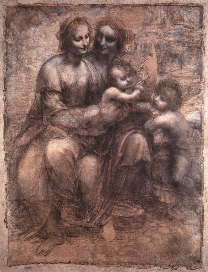 Leonardo da Vinci tekende de 'Heilige Familie' en verborg een archontisch wezen in de tekening, Het is met name de rechterarm van Maria, die argwaan opwekt over de juistheid van het 'originele beeld'.. Een ongeziene tekening dus feitelijk van het verborgene.. Opnieuwe Da Vinci's magistrale geest onderstrepend..!!