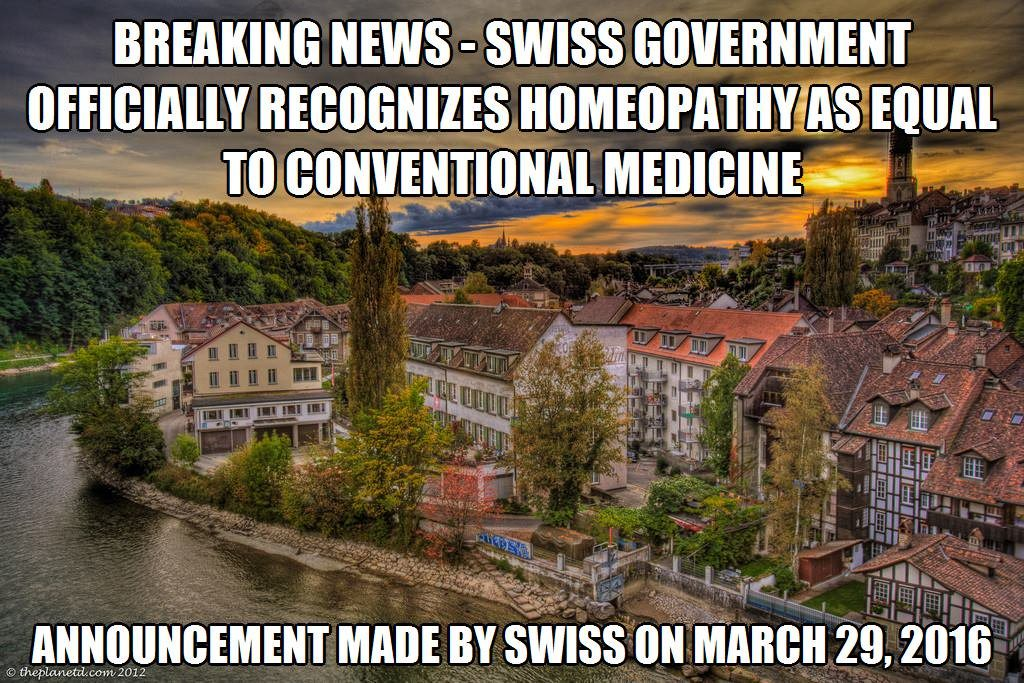 homeopathy announcement SWISS