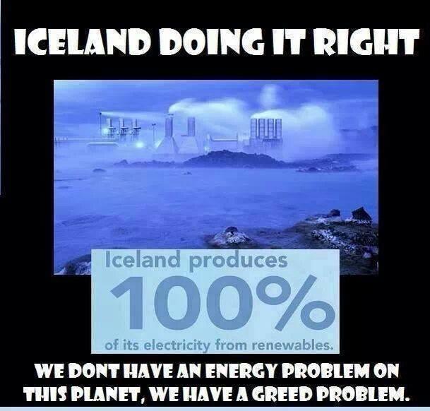 IJsland energie hebzucht