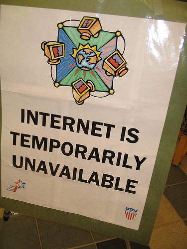 Internet tijdelijk niet beschikbaar?