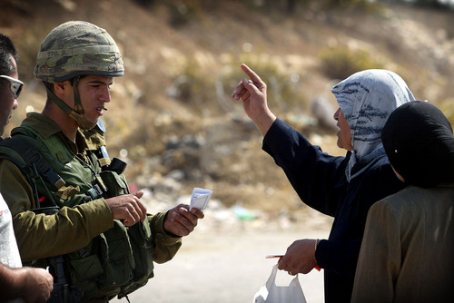 israeli soldaat palestijnse vrouw