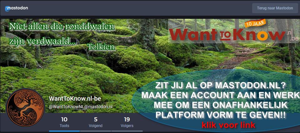wanttoknow mastodon.nl-banner