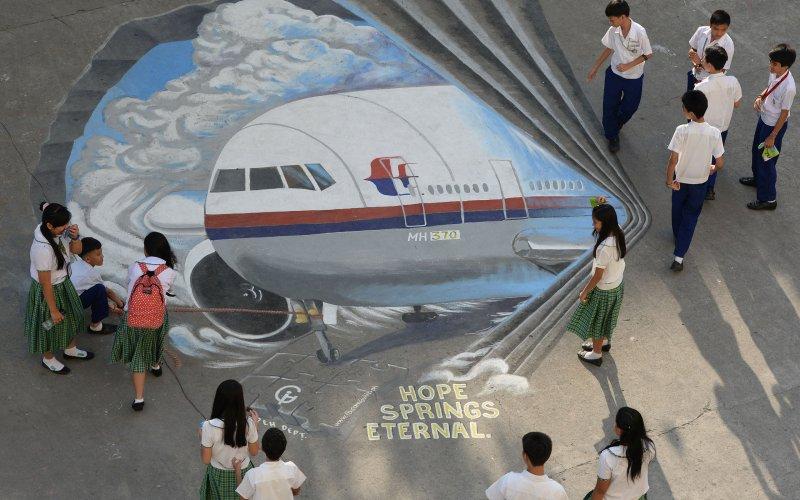 mh370 krijttekening