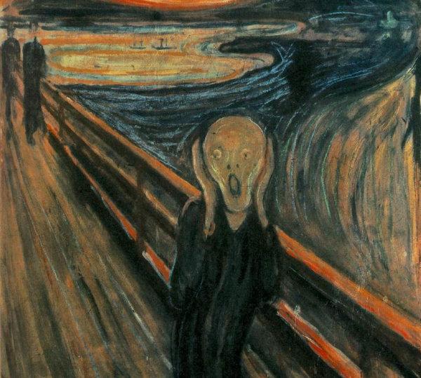 In 1893 schilderde Edvard Munch 'De Schreeuw'. Geteisterd door de demonen in zijn hoofd en de folteringen uit zijn jeugd. Is er een betere expressie van 'Angst'..?