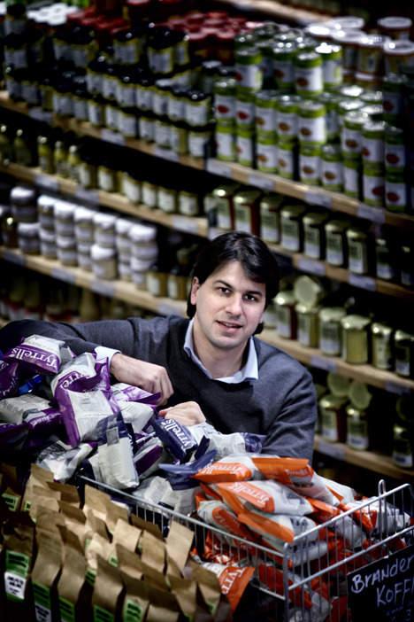 Quirijn Bolle, initiatiefnemer van het succesvolle, duurzame supermarktconcept 'MARQT'.