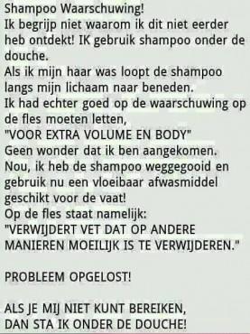 shampoo en afwasmiddel