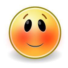 smiley blush