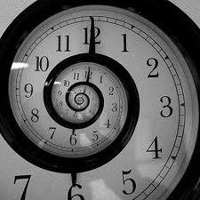 De tijdlijn die geen 'lijn' is maar als spiraal gekrult is. Overstappen naar meerdere kanten is geen illusie, wellicht..