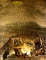Bijbelse voorstelling met UFO