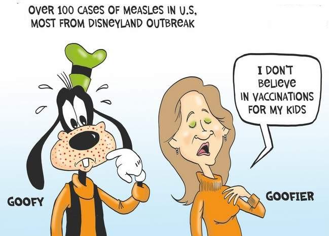 De manier waarop ouders worden weggezet, die hun kinderen niet laten vaccineren. Of hoe je met Disney-cartoons ook mensen kunt beschadigen..!