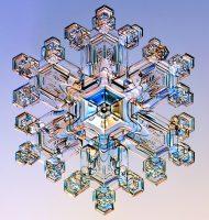 water snowflake crystal
