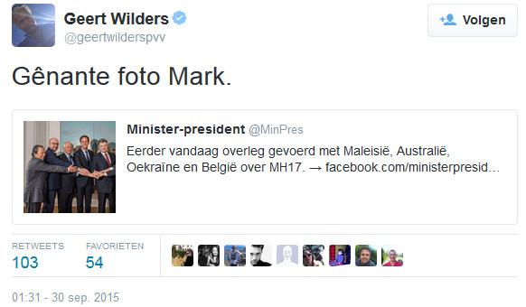 wilders rutte tweet mh17