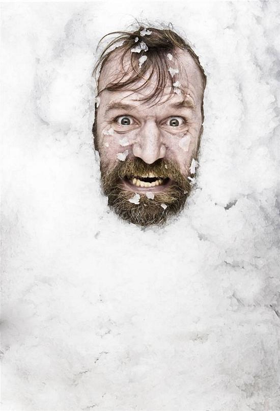 wim hof in het ijs