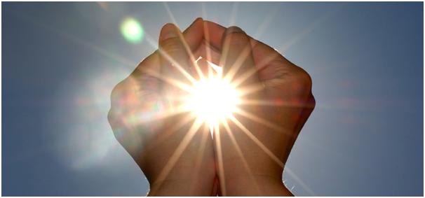 zon handen
